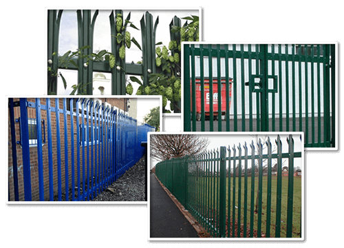 Four pictures about the palisade fence, serve as fence for lawn, residence and factory and serve as support for the plant.
