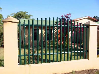 Palisade Fence as Factory and Garden Security Fence