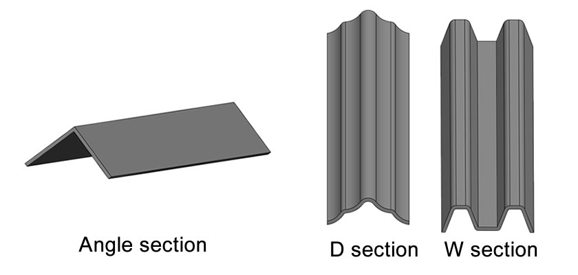 Three types of palisade pales, they are angle section, D section, W section.